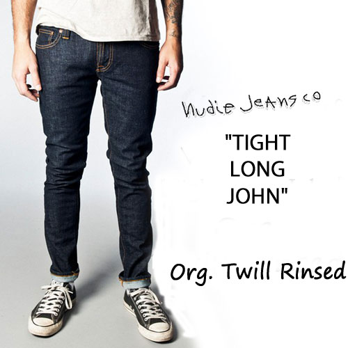 Free Shipping Find Great Outlet Best Sale Tight Long John Skinny Jeans Twill Rinsed Wash - Org. twill rinsed Nudie Jeans Outlet Latest Collections How Much Online 9Ye5pXa