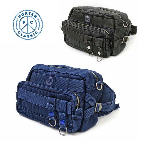 【新入荷】 PORTER CLASSIC ( ポーター クラシック ) SUPER NYLON WAIST BAG ( スーパーナイロン ウエストバッグ ) 015-272 約W29cmxH20cmxD12.5cm (7.2L)男女兼用 ボディーバッグ ショルダーバッグ