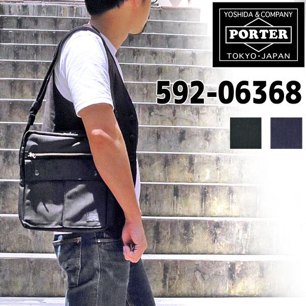 【B5サイズ対応】【PORTERの人気定番シリーズ】 PORTER SMOKY ポーター スモーキーSHOULDER BAG(W250/H280/D65)540g縦型ショルダーバッグ 592-06368 男女兼用 斜め掛け