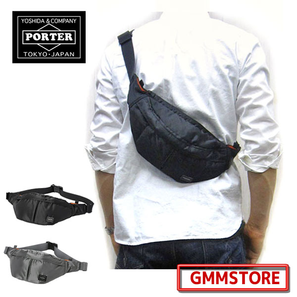Porter tanker body to Fit ☆ back in the Pocket and gusset with no  functional good ☆ porter tanker Porter tanker Porter waist bags (  W400 H140 D70) 210 g ... 5582420c92