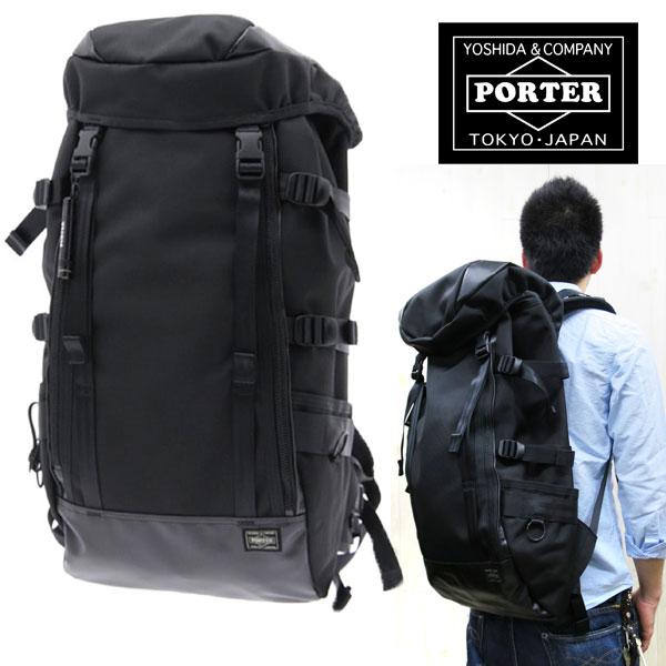 【ずっと人気のシリーズ】 PORTER  HEAT ポーター ヒート RUCKSACK 703-06301 25リットル (W280/H540/D180) リュックサック 【ブラック】porter リュック porter ヒート