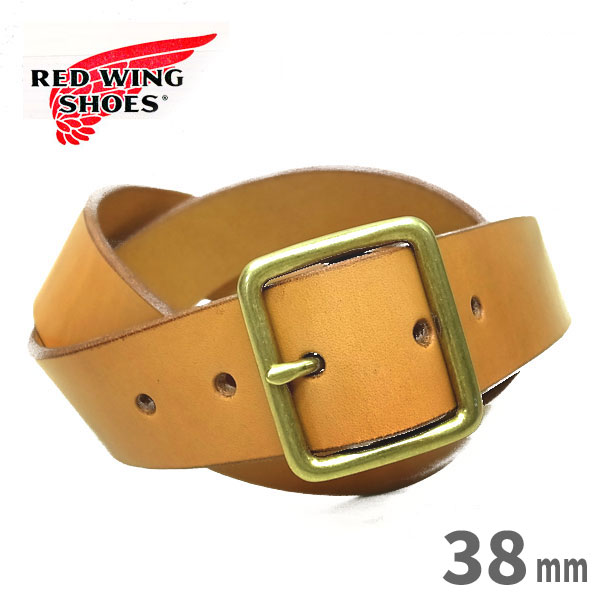 【日本正規販売代理店】 REDWING ( レッドウィング )【 96563 】 LEATHER BELT / レザーベルト 【 TAN / タン 】【40mm幅】米国製 red wing belt レッドウイング ベルト