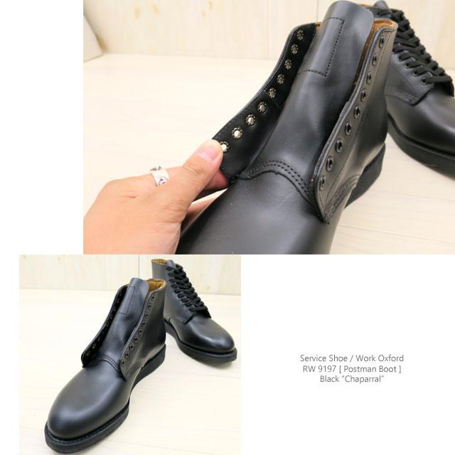 "#9197 RED WING红翅膀POSTMAN BOOT/邮递员长筒靴#9197 BLACK""CHAPARRAL""(burakkushapararu)怀斯:D REDWING红翅膀邮递员"