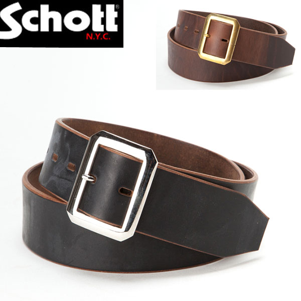 【schott 神戸正規】 SCHOTT(ショット) PERFECTO BELT(パーフェクトベルト) レザーベルト【 ブラック ブラウン 】 3119004 schott ベルト