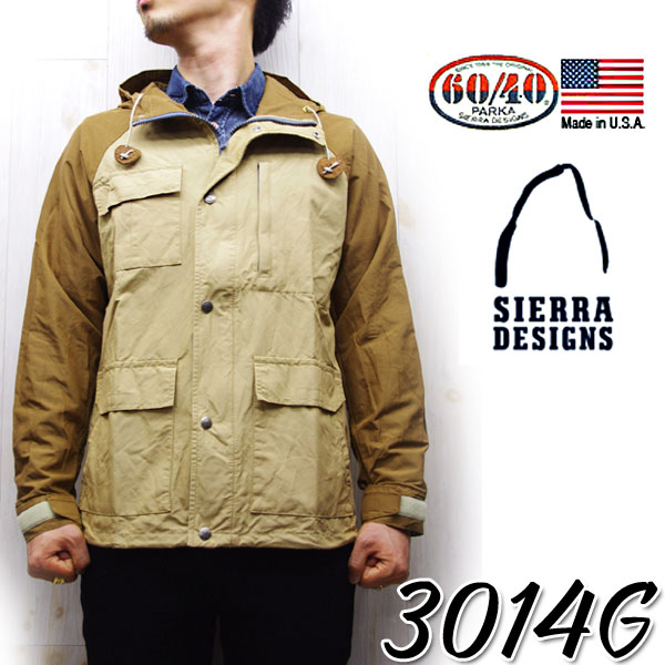 SIERRA DESIGNS Sierra design 3014 G WASHED SHORT PARKA 2 stone washed short parka 60 / 40 ショートマウンテンパーカー men's ヴィンテージタン X Tan