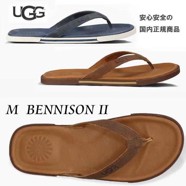 メンズ【2019SS】【 ugg 国内正規商品 】 UGG ( アグ ) ugg BENNISON 2 【 NAVY 】【 LUGGAGE 】 ugg サンダル 正規品 メンズ レザー トング ベニソン II ベニッソン