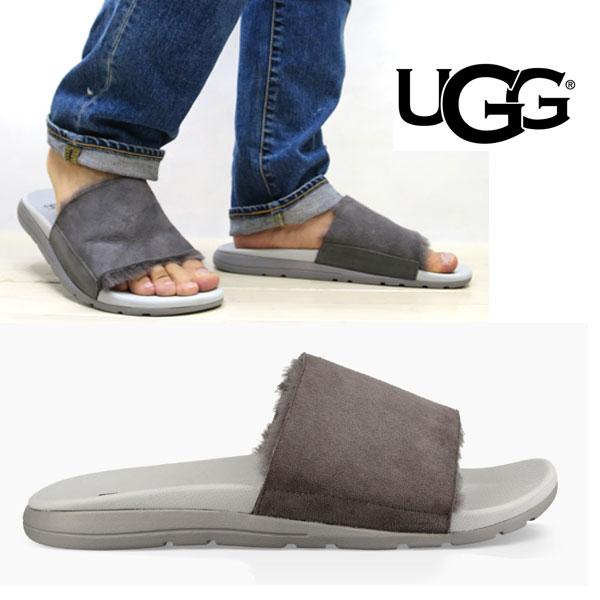 【2018SS】【 ugg 国内正規商品 】 UGG ( アグ ) ugg XAVIER TF ( メンズ ゼビア ツインフェイス )【 チャコール 】 ugg サンダル 正規品 メンズ サンダル シープスキン スライド 軽量