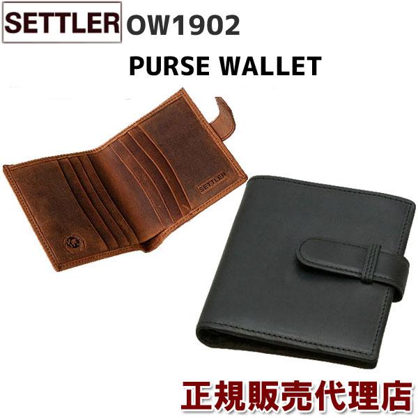 春財布 即納 革のエイジングを手軽に楽しめるカジュアルでラフな セトラー のレザー♪  SETTLER OW1902 PURSE WALLET ( BROWN / BLACK )有料ギフト包装サービスもご用意