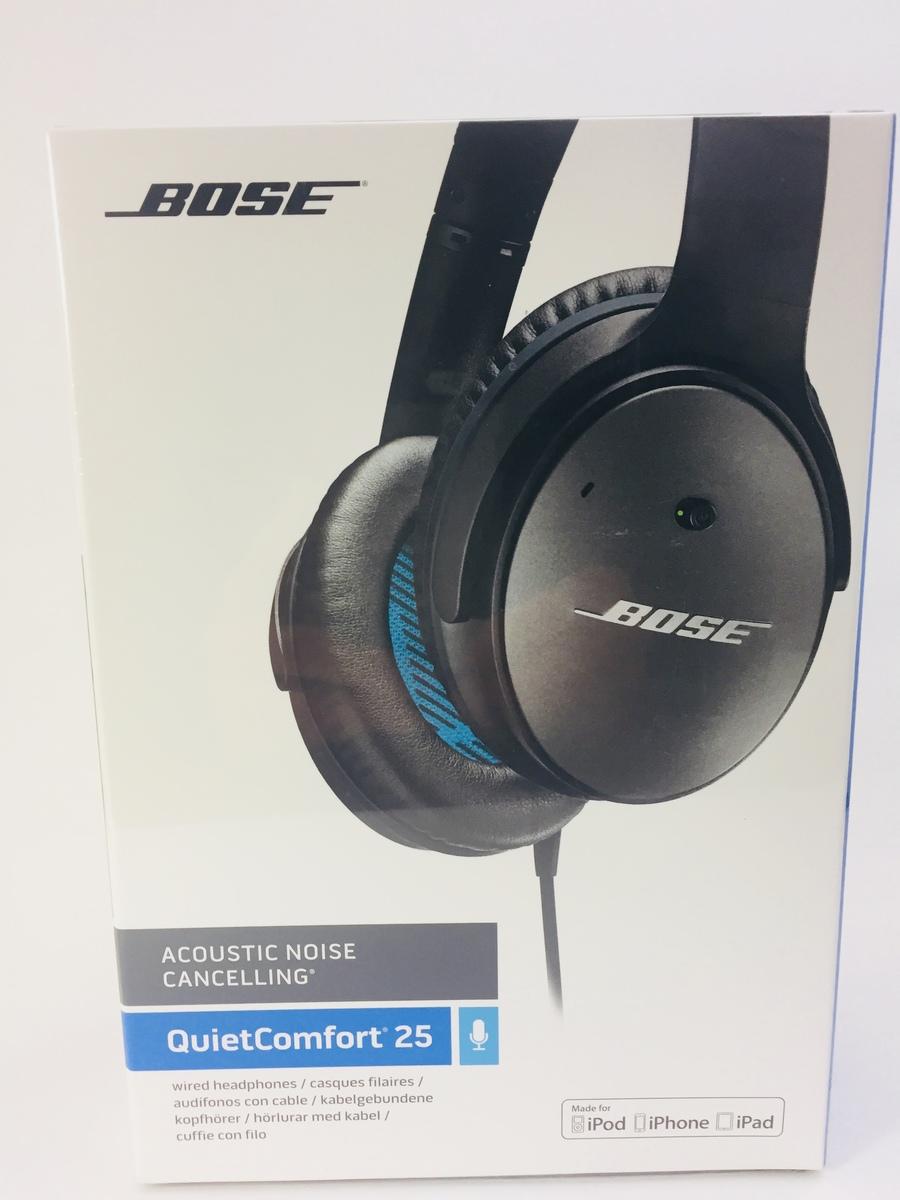 新品  Bose QuietComfort 25 Acoustic Noise Cancelling headphones - Apple devices ノイズキャンセリングヘッドホン ブラック