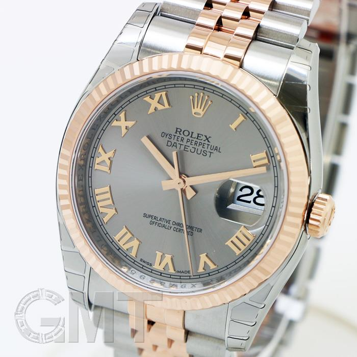 ROLEX ロレックス デイトジャスト 116231 グレーローマ 新品腕時計 メンズ 送料無料