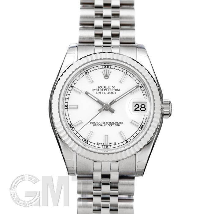 ロレックス デイトジャスト 178274 ホワイト ROLEX 新品レディース 腕時計 送料無料