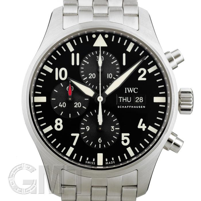IWC パイロットウォッチ クロノグラフ ブラック IW377710※ IWC 新品メンズ 腕時計 送料無料