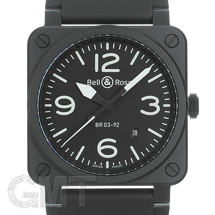 [最大3万円引き! 5/1]ベル&ロス BR 03-92 セラミック/ラバー BELL & ROSS 新品メンズ 腕時計 送料無料