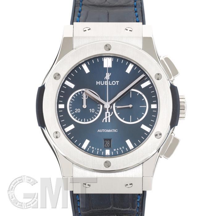 [最大3万円引き! 5/1]ウブロ クラシック フュージョンクロノグラフ チタニウム ブルー 541.NX.7170.LR HUBLOT 新品メンズ 腕時計 送料無料