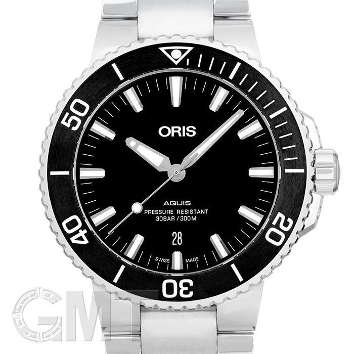 オリス アクイス デイト ブラック 733 7730 4154 M ORIS 【新品】【メンズ】 【腕時計】 【送料無料】 【あす楽_年中無休】