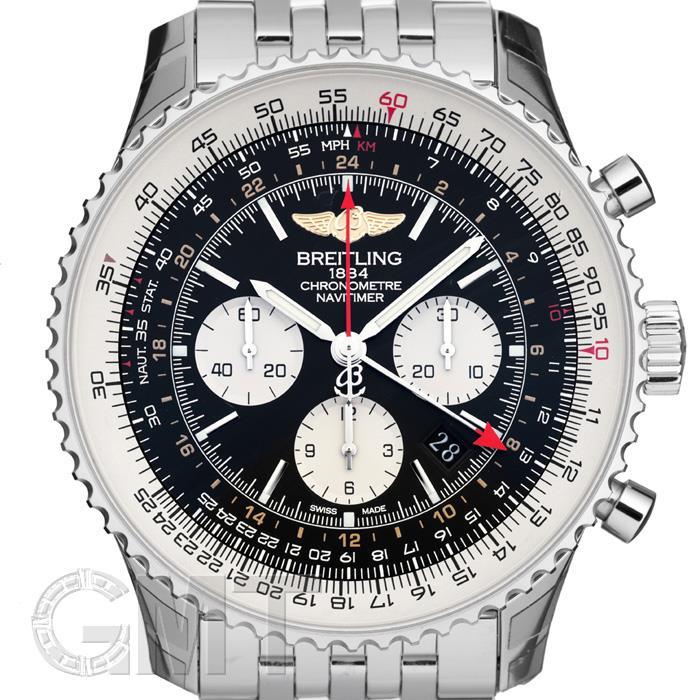 BREITLING ブライトリング ナビタイマー GMT A044B24NP ブラック 【新品】 【腕時計】【メンズ】 【送料無料】 【あす楽_年中無休】