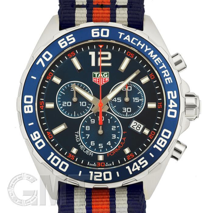 タグホイヤー F1 クロノグラフ 43mm クォーツ ブルー NATOベルトCAZ1014.FC8196 TAG HEUER 【新品】【メンズ】 【腕時計】 【送料無料】 【あす楽_年中無休】