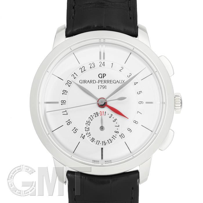 [最大3万円引き! 5/1]ジラールペルゴ 1966 デュアルタイム 49544-11-132-BB60 シルバーGIRARD PERREGAUX 新品メンズ 腕時計 送料無料