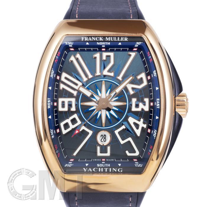 【メール便送料無料対応可】 フランクミュラー ヴァンガード ヨッティング V45SCDTYACHTING 5NBL ブルー ピンクゴールド カーフストラップ FRANCK MULLER 新品メンズ 腕時計 送料無料, モールジャパン fd093ed6