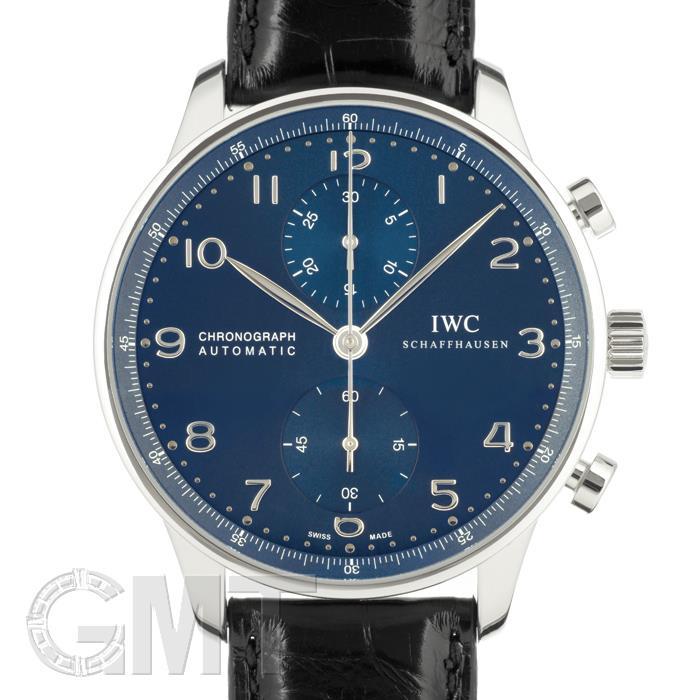 IWC ポルトギーゼ クロノグラフ IW371491 ブルー IWC 【新品】【メンズ】 【腕時計】 【送料無料】 【あす楽_年中無休】