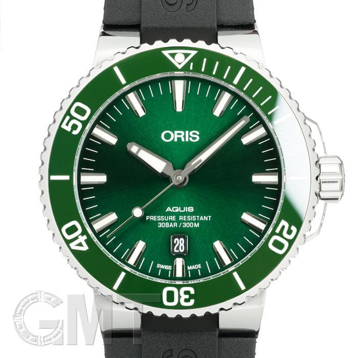 オリス アクイス デイト グリーン 733 7730 4157 R ORIS 【新品】【メンズ】 【腕時計】 【送料無料】 【あす楽_年中無休】