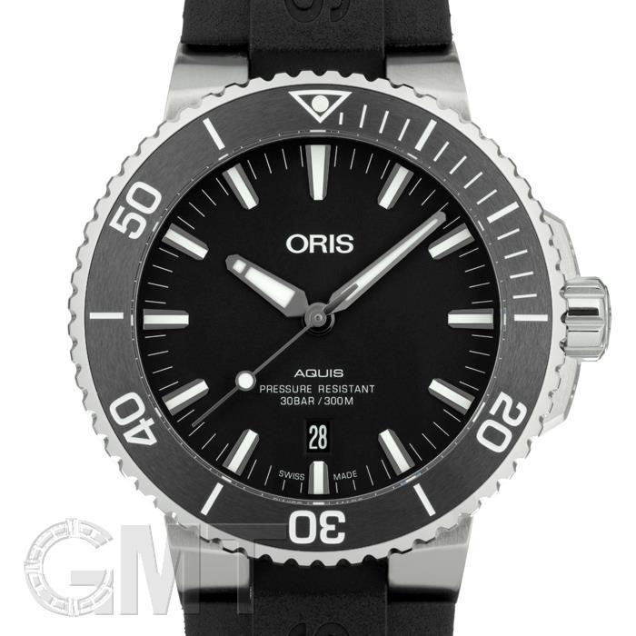 [最大3万円引き! 5/1]オリス アクイス デイト ブラック 733 7730 4124 R ORIS 新品メンズ 腕時計 送料無料
