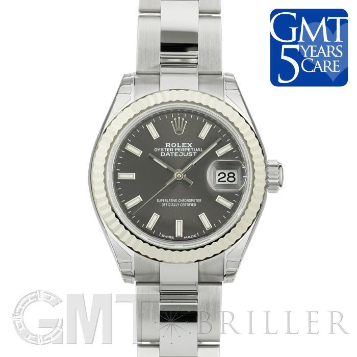 ロレックス デイトジャスト28 279174 ダークグレー オイスターブレス ROLEX 新品レディース 腕時計 送料無料