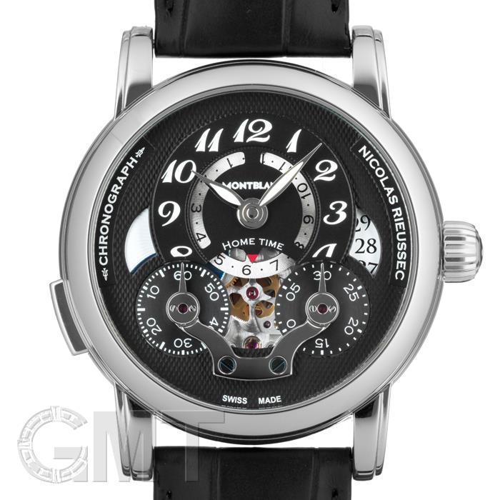 モンブラン ニコラリューセック オープン ホームタイム 107070 ブラック MONTBLANC 新品メンズ 腕時計 送料無料