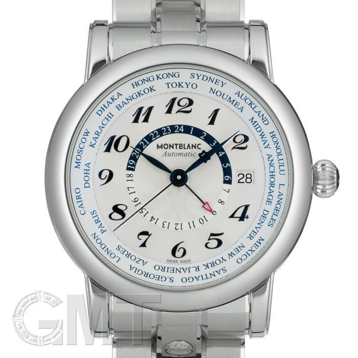 モンブラン スター ワールドタイム GMT シルバー 109286 MONTBLANC 【新品】【メンズ】 【腕時計】 【送料無料】 【あす楽_年中無休】