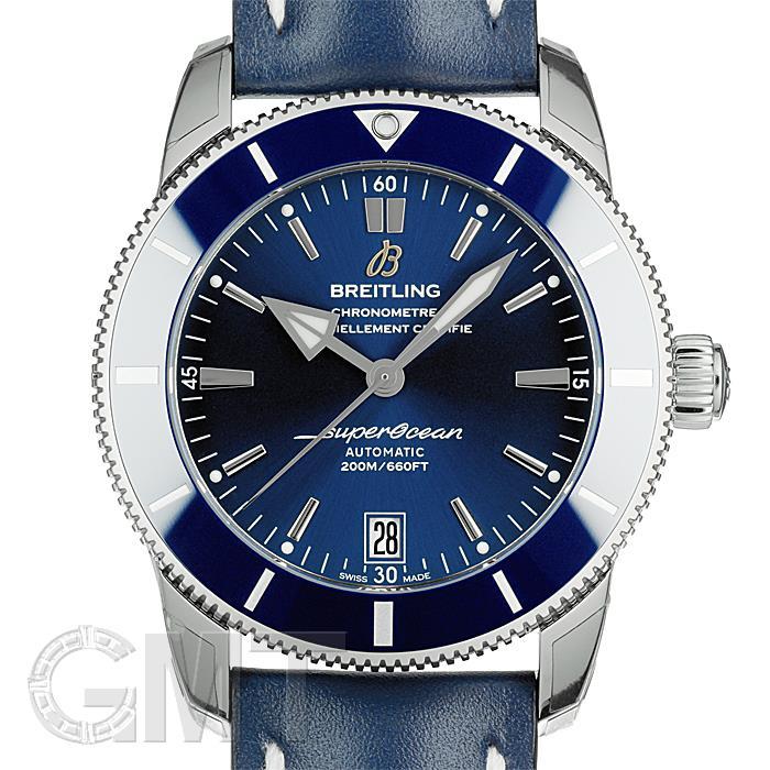 ブライトリング スーパーオーシャン ヘリテージ II 42 A201C60KBA ブルー レザー BREITLING 【新品】【メンズ】 【腕時計】 【送料無料】 【あす楽_年中無休】