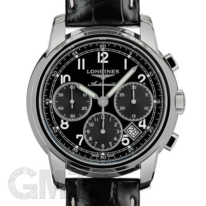 ロンジン サンティミエ クロノグラフ ブラック L2.752.4.53.3 LONGINES 【新品】【メンズ】 【腕時計】 【送料無料】 【あす楽_年中無休】