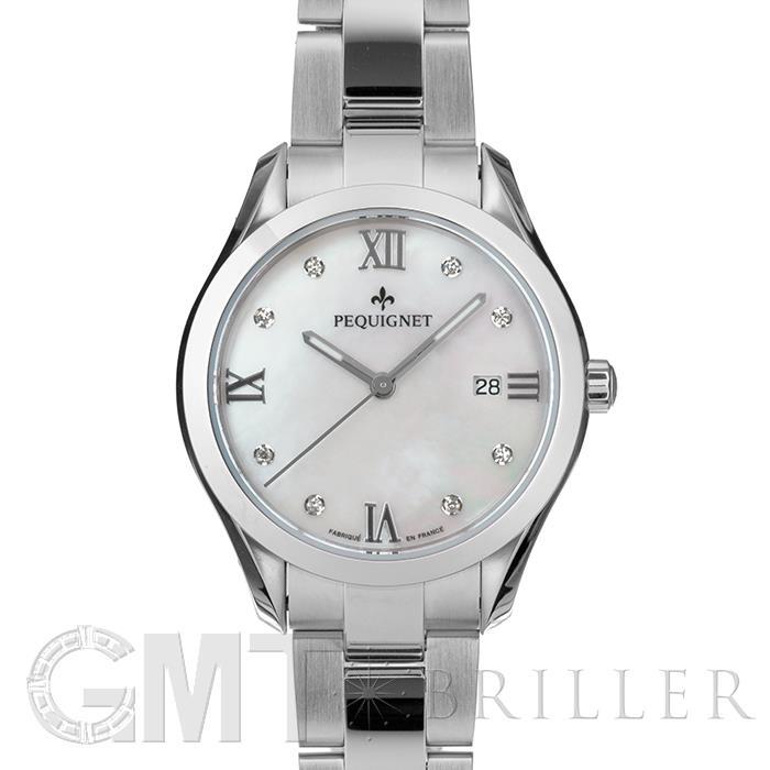 [最大3万円引き! 5/1]ペキニエ エレガンス 8P ホワイトMOP 8000503CR 新品レディース 腕時計 送料無料