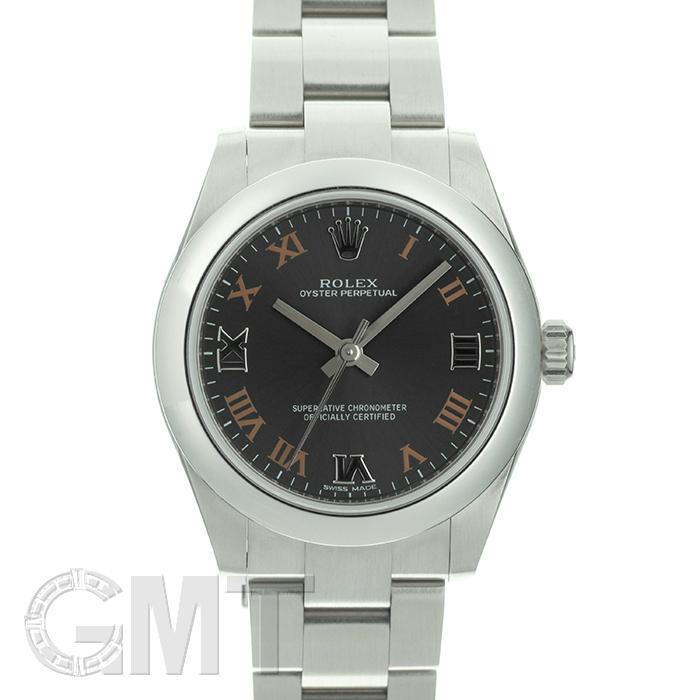 ロレックス オイスターパーペチュアル 177200 ダークグレー ROLEX 新品レディース 腕時計 送料無料