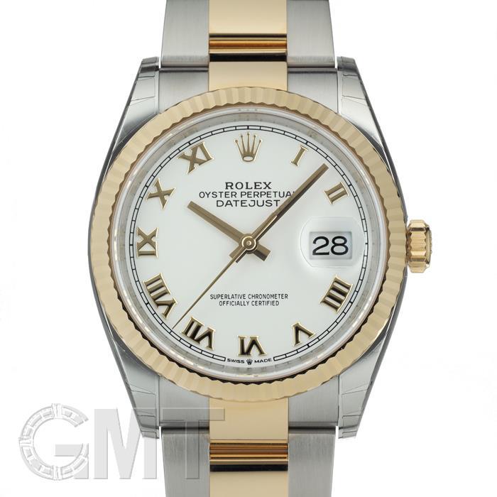 [最大3万円引き! 5/1]ロレックス デイトジャスト 36 126233 ホワイトローマ オイスターブレス ROLEX 新品メンズ 腕時計 送料無料