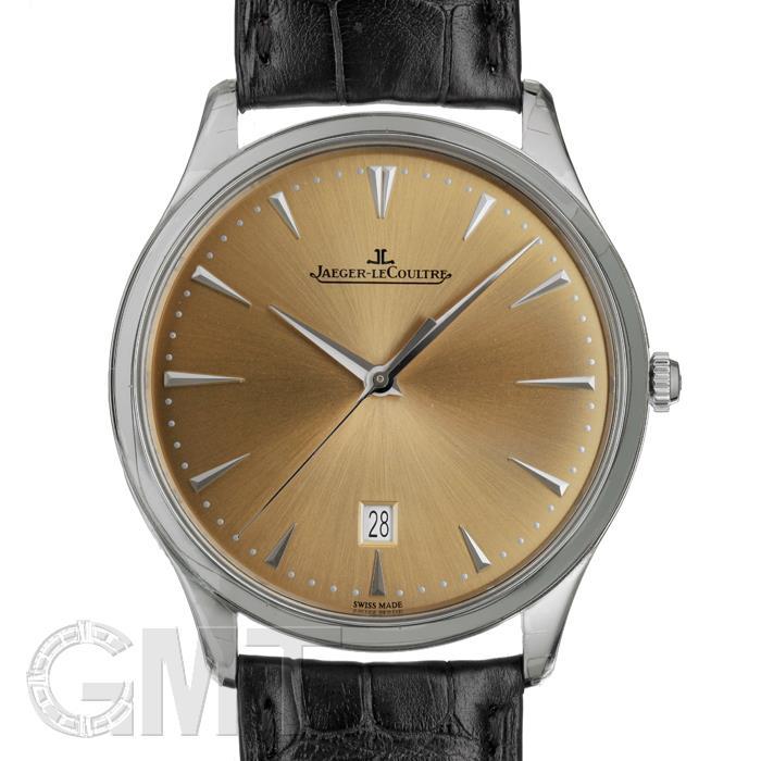 ジャガールクルト マスターウルトラスリムデイト シャンパン SS革 Q1288430 JAEGER LECOULTRE 【新品】【メンズ】 【腕時計】 【送料無料】 【あす楽_年中無休】