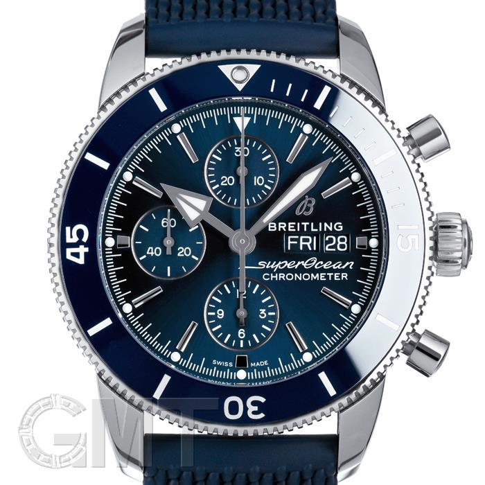 ブライトリング スーパーオーシャン ヘリテージ II クロノグラフ 44 ブルー ラバー A275C-1QRC BREITLING BREITLING 【新品】【メンズ】 【腕時計】 【送料無料】 【あす楽_年中無休】
