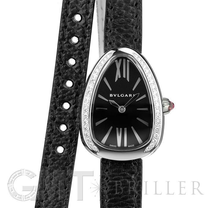 ブルガリ セルペンティ SP32BSDL ブラック SS ベゼルダイヤ BVLGARI 新品レディース 腕時計 送料無料