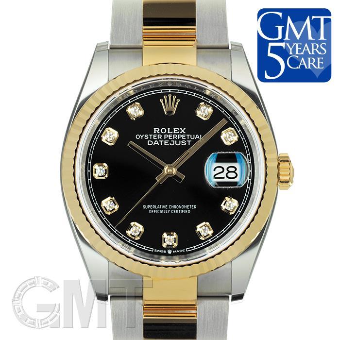 [最大3万円引き! 5/1]ロレックス デイトジャスト 36 126233G ブラック オイスターブレス ROLEX 新品メンズ 腕時計 送料無料
