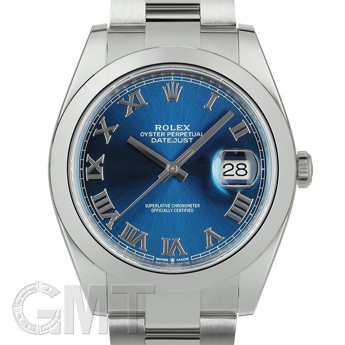 [最大3万円引き! 5/1]ロレックス デイトジャスト41 126300 ブルーローマ オイスターブレス ROLEX 新品メンズ 腕時計 送料無料
