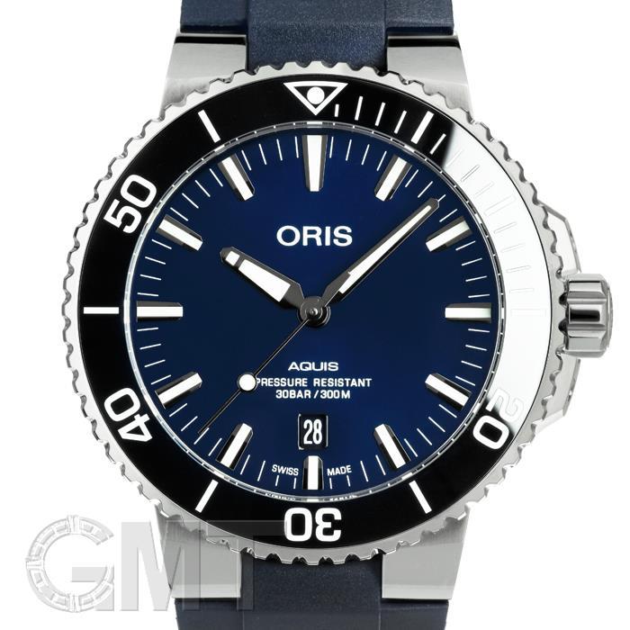 [最大3万円引き! 5/1]733 7730 4135 Rアクイス デイト BL SS BLラバー ORIS新品メンズ腕時計 送料無料