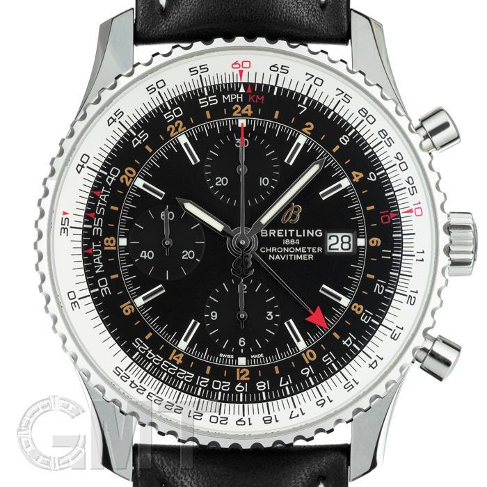 ブライトリング ナビタイマー1 クロノグラフ GMT46 ブラック A242B-2KBA BREITLING 新品メンズ 腕時計 送料無料