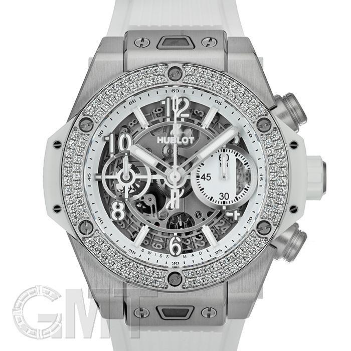 [最大3万円引き! 5/1]ウニコ チタニウム ホワイト ダイヤモンド 42 mm 441.NE.2010.RW.1104 HUBLOT 新品メンズ 腕時計 送料無料