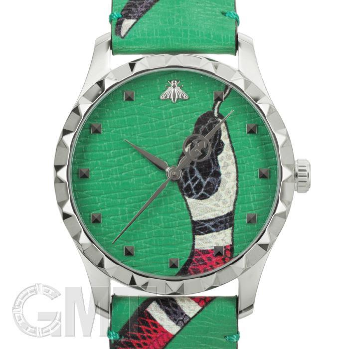 グッチ Gタイムレス YA1264081 スネーク グリーン GUCCI 新品ユニセックス 腕時計 送料無料 年中無休