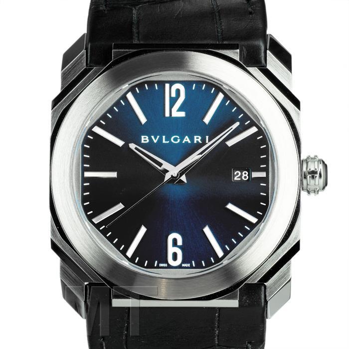 6810abdd9c18 ブルガリ オクト ソロテンポ BGO38C3SLD ブルー BVLGARI 【中古】【メンズ】 【腕時計】 【
