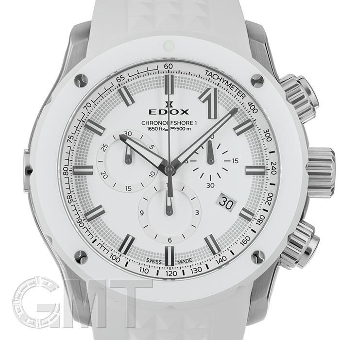 エドックス クロノオフショア1 クロノグラフ 10221-3B3-BIN3 【中古】【メンズ】 【腕時計】 【送料無料】 【あす楽_年中無休】