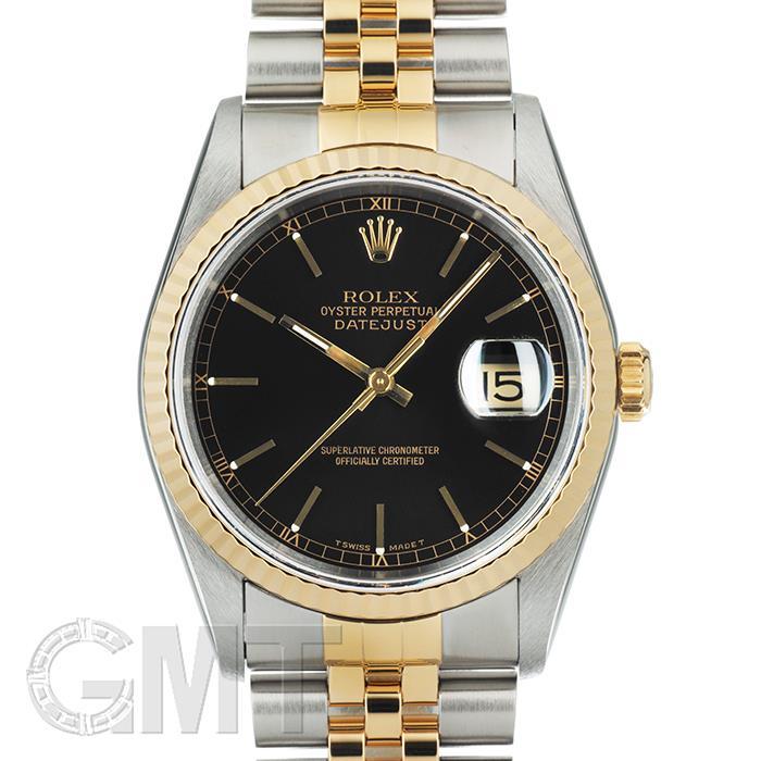 ロレックス デイトジャスト 16233 ブラック ROLEX 【中古】【メンズ】 【腕時計】 【送料無料】 【あす楽_年中無休】