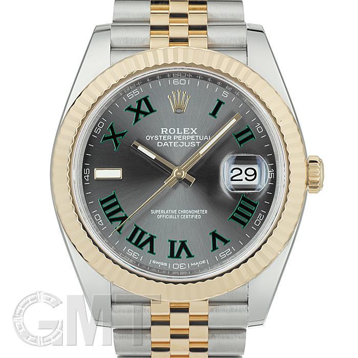 ロレックス デイトジャスト 41 126333 グレー/グリーンローマ ジュビリーブレス ROLEX 【中古】【メンズ】 【腕時計】 【送料無料】 【あす楽_年中無休】