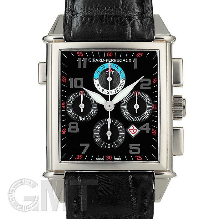 [最大3万円引き! 5/1]ジラールペルゴ ヴィンテージ 1945 クロノグラフ GMT 25975-53-612-BA6A 中古メンズ腕時計 送料無料