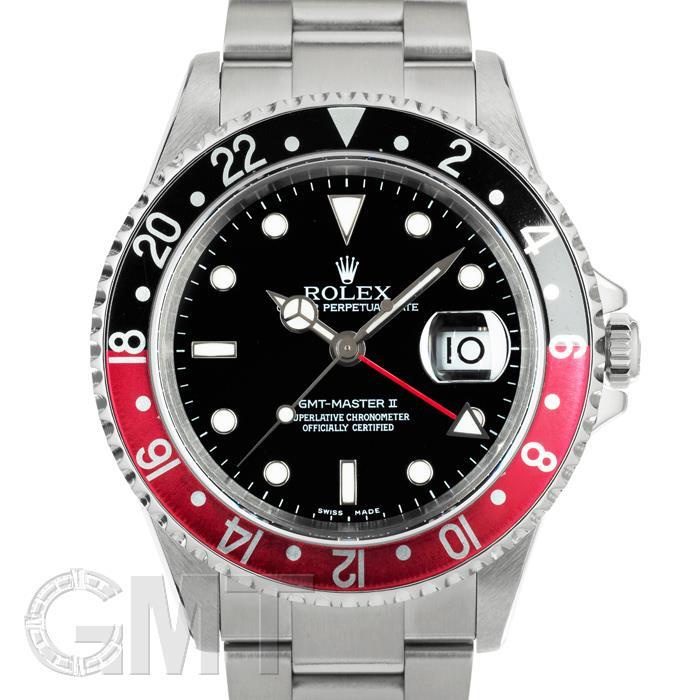 [最大3万円引き! 5/1]ロレックス GMTマスター II 16710 ブラック/レッド D番 ROLEX 中古メンズ 腕時計 送料無料