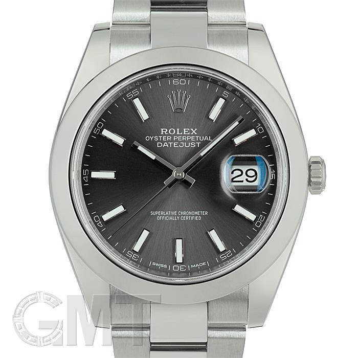 ロレックス デイトジャスト 41 126300 ダークロジウム ランダムシリアル ROLEX 中古メンズ 腕時計 送料無料 _年中無休